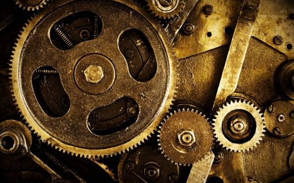 HD Wallpaper of Mechanism, Gears, Nuts