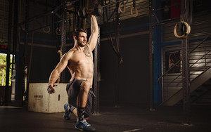 Preview wallpaper of Man. Muscle, Tattoo, Weightlifting