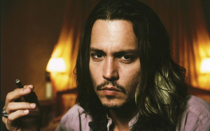 Preview wallpaper of Actor, Johnny Depp, Long Hair, Man, Moustache