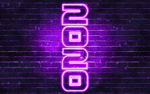 Preview wallpaper of New Year, New Year 2020, Neon