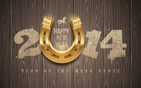 Preview wallpaper  happy <b>new</b> <b>year</b>, 2014, <b>year</b> of the wood horse