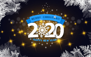 Preview wallpaper of Happy New Year, Merry Christmas, New Year 2020