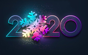 Preview wallpaper of New Year, New Year 2020, Snowflake