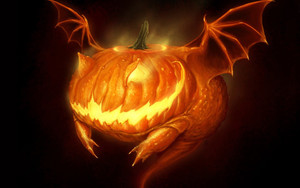 Preview wallpaper of Creature, Halloween, Horror, Jack-o'-lantern