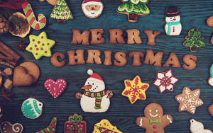 Preview wallpaper of Christmas, Cookie, Gingerbread, Merry Christmas