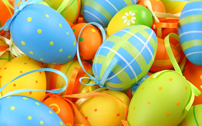 Wallpaper of Colorful, Easter, Easter Egg, Holiday, Ribbon background & HD image