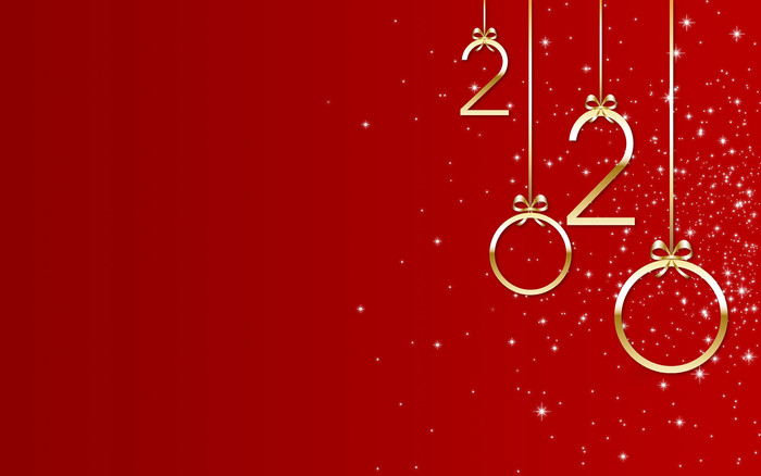 Wallpaper of New Year, New Year 2020, Red background & HD image