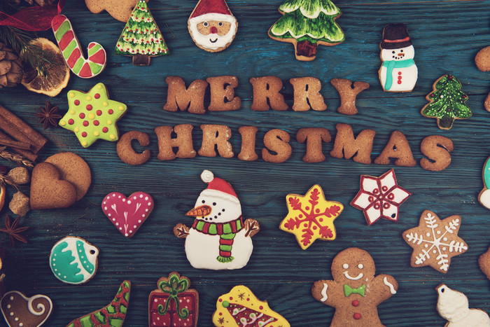 HD Wallpaper Christmas, Cookie, Gingerbread, Merry Christmas