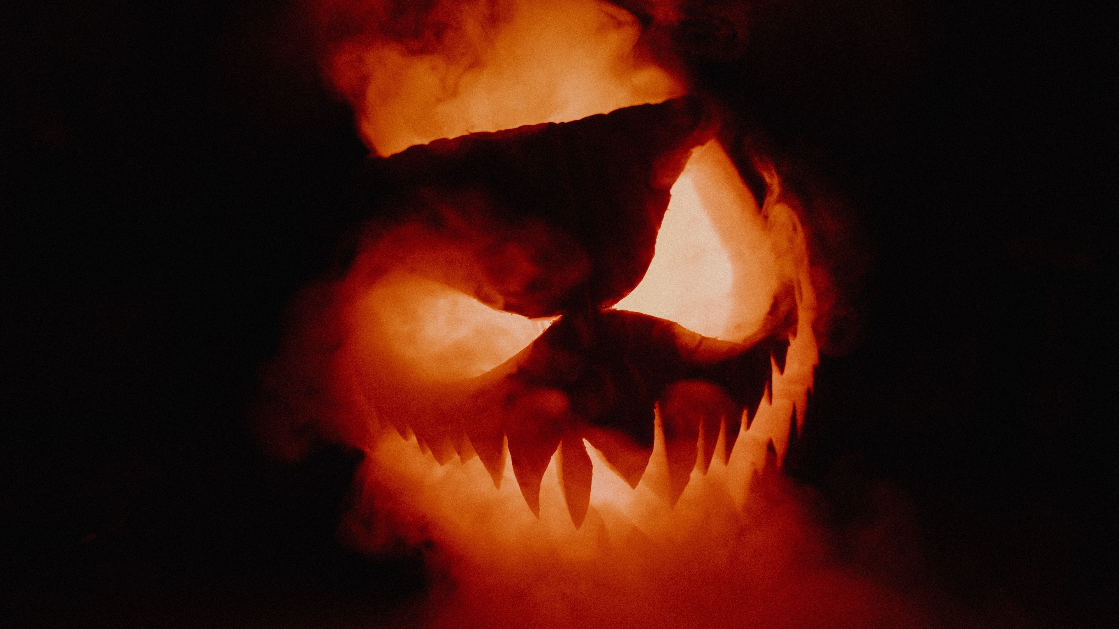 Wallpaper Of Halloween Jack O Lantern Smoke Background Hd Image