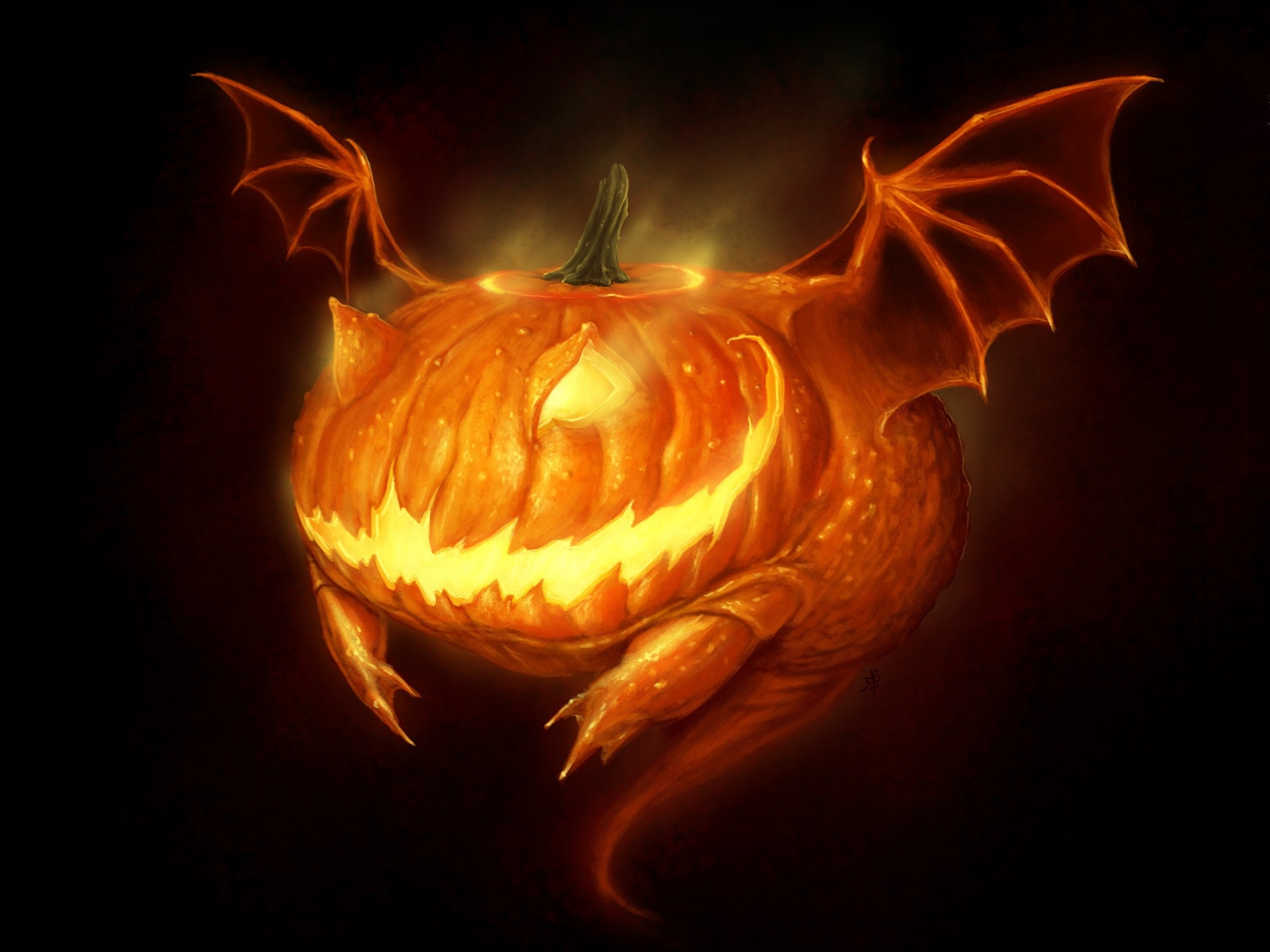 Wallpaper Of Creature Halloween Horror Jack O Lantern