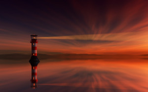 Preview wallpaper  Lighthouse, <b>Sunset</b>, Skyline, Sky