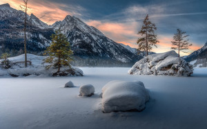 Preview wallpaper  Mountain, Nature, Snow, <b>Winter</b>, Trees