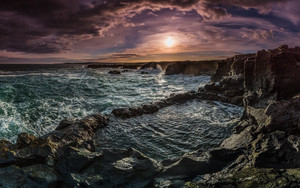 Preview wallpaper of Rock Pool, Coastline, Sun, Sky, Nature