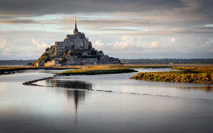 Смотреть обои Building, France, Mont Saint-Michel