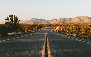 Preview wallpaper of Road, Marking, Desert, Asphalt