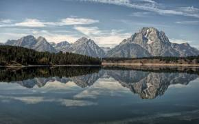 Смотреть обои Oxbow Bend Lake, Grand Teton National Park
