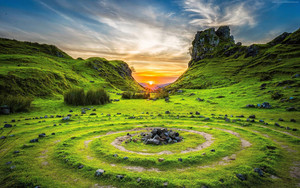 Смотреть обои Fairy Glen, Isle of Skye, Scotland, Nature,