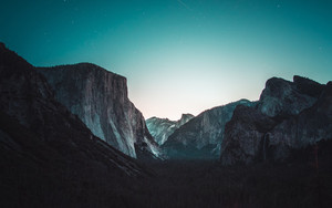 Preview wallpaper Yosemite Valley, The Mountains, Night