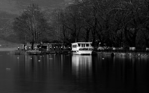 Preview wallpaper Ioannina Lake, Greece, landscape, lake, boat,