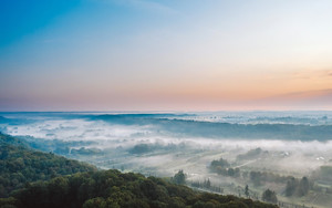 Preview wallpaper of Fog, Horizon, Landscape, Lithuania, Nature, Sky