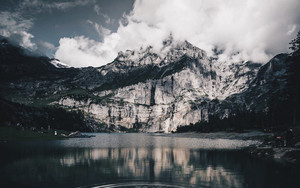 Смотреть обои Lake, Mountains, Water, Ashinense, Switzerland