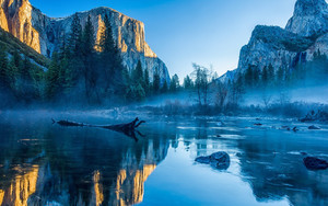 Preview wallpaper  Yosemite, <b>Winter</b>, Forest, Mountains