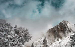 Preview wallpaper  Winter, <b>Snow</b>, Clouds, The Mountains