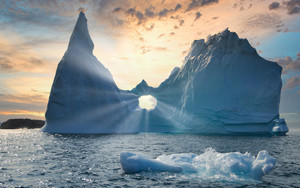 Preview wallpaper of Nature, Iceberg, Sunbeam
