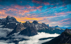 Preview wallpaper Earth, Mountain, Sunset, Sky