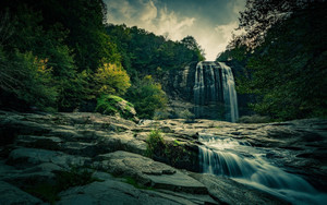 Preview wallpaper of Nature, Waterfall, Forest