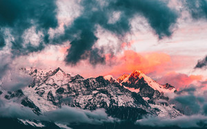 Preview wallpaper  <b>Mountain</b>, Sky, Nature, Sunset
