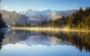 Preview wallpaper of Lake, Landscape, Mountain, Nature, New Zealand