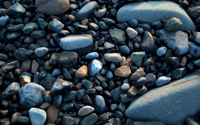 HD Wallpaper of Sea stones, Smooth, Shapes
