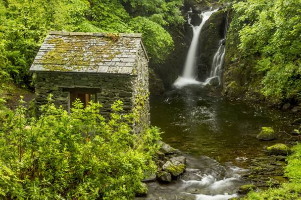 HD Обои Rydal Hall Waterfall, Lake District, England