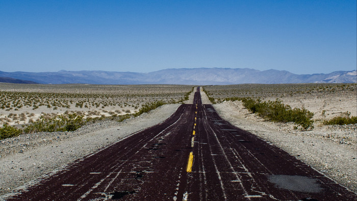 HD Wallpaper of Road, Marking, Horizon, Desert, Hills