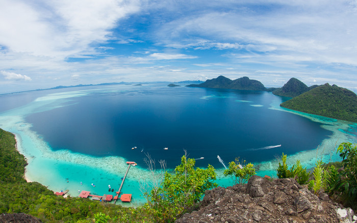 HD Wallpaper Earth, Fisheye, Malaysia, Ocean, Sea