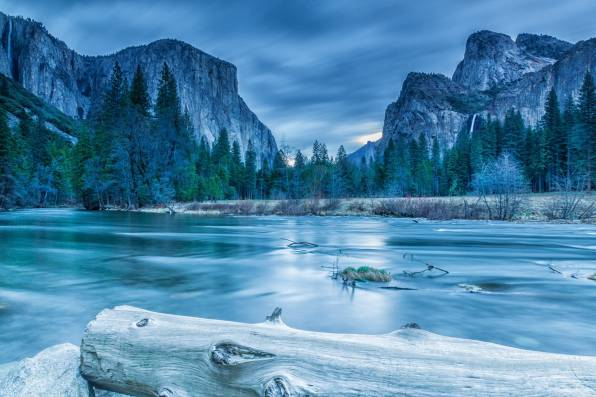 Обои Yosemite, National Park, Sierra Nevada, зима