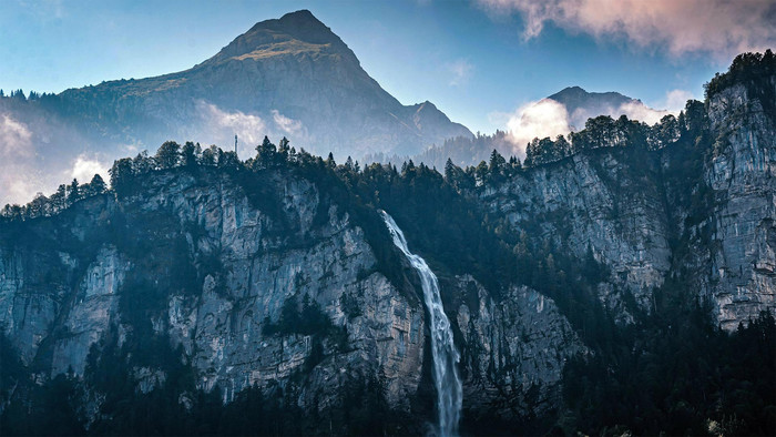 Earth, Nature, Mountain, Waterfall Wallpaper. Download Nature (Природа) HD desktop background image