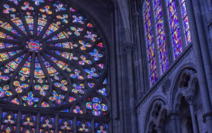 Preview wallpaper of Stained Glass, Window, Cathedral, Architecture