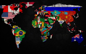 Preview wallpaper of Artistic, Colorful, Flag, Map