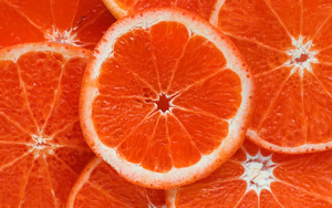 Смотреть обои Orange, Citrus, Ripe, Fruit, Cut