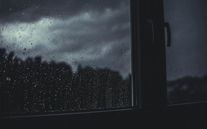 Preview wallpaper of window, raindrops, blur
