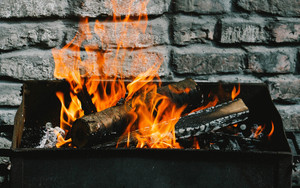 Preview wallpaper of Firewood, Fire, Wall, Barbecue