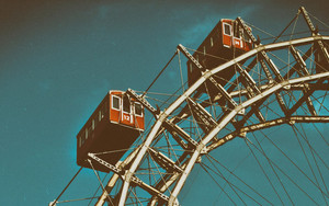 Preview wallpaper of Ferris wheel, Attraction, Sky, Photo in color