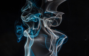 Preview wallpaper of Smoke, Clumps, Coils, Shroud, Color