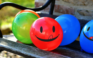 Preview wallpaper of Balloons, Smile, Smiley, Colorful