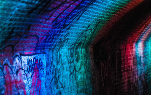 Preview wallpaper of Wall, Graffiti, Multicolored, Brick
