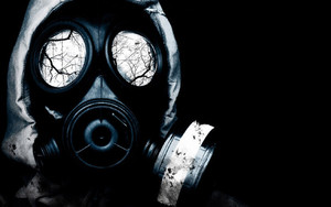 Preview wallpaper Gas mask, Despair, Darkness