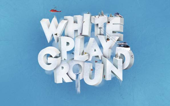 Обои white playgraund, зима, горы, спорт