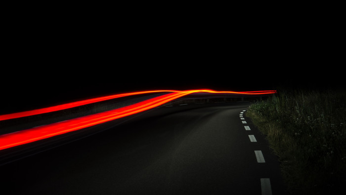 HD Wallpaper Road, Light, Line, Night, Rotate, Markup